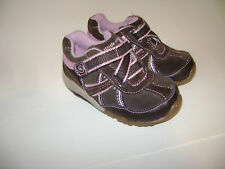 STRIDE RITE CARISSA BABY GIRLS SHOES SNEAKERS size 4.5 M BROWN PINK LEATHER