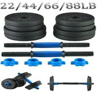 GYM Adjustable Dumbbell Set 22 44 66 88lb Weight Barbell Plates Home Workout US