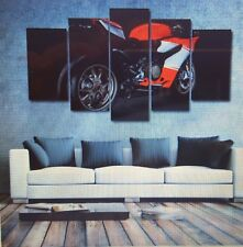 Canvas ducati Prints Painting HD Printed 5 Panel Sports Motorcycle Home Decor