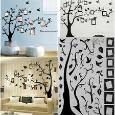 New Home Decor Tree Bird Photo Frame Family Memory Wall Stickers Removable Decal