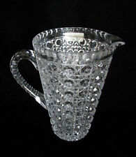 German Crystal Water Juice Large Pitcher Shiny Old signed