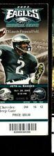 Football Ticket Philadelphia Eagles 2003 10/26 New York Jets