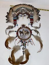 New ListingThe Bradford Exchange Wolf Sacred Powers Collection Wall Hanging Headress