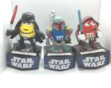 Star Wars M&M's Mpire Trio Candy Dispenser Bank Darth Vader Boba Fett Jedi 2010