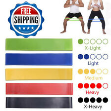 Resistance Bands Home Exercise Band Yoga fitness Workout Crossfit Gym Training 1