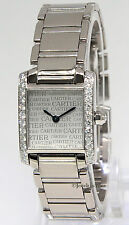 Cartier Tank Francaise Anniversary 18k White Gold Diamond Watch Box/Papers 2403