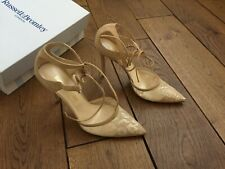 RUSSELL & BROMLEY STILETTO HEEL SUEDE/MESH ANKLE LACE SHOE / SANDAL UK 6.5 /39.5