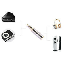 2.5mm Male to 3.5mm Female Audio Stereo Headphone Jack Adapter Connector FT