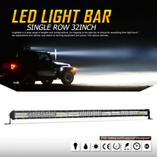 SLIM 32INCH 624W LED LIGHT BAR OSRAM SINGLE ROWS COMBO OFFROAD 4WD TRUCK ATV 30