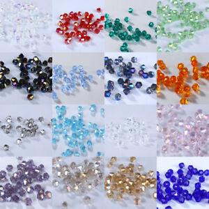 2mm #5301 DIY jewelry Glass Crystal Bicone bead Loose beads 1000pcs U pick color