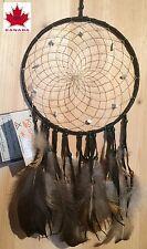 Capteur de rêves (diamètre 15cm )AMERINDIEN HURON 5 Nations Canada