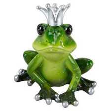 Dekofigur Froschkönig H. 12cm B. 10cm grün Poly Formano