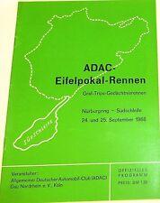 24.u 25. sept 1966 adac eifelpokal rennen trips nürburgring programmheft VI10å