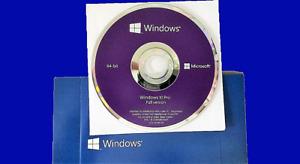 Microsoft Windows 10 Pro Professionnel 64-Bit DVD Disc official langue anglaise