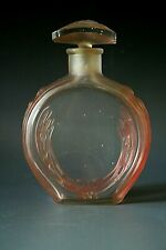 ATTRIBUTE TO  LALIQUE  ART DECO GLASS SCENT BOTTLE