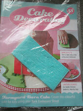 Deagostini Cake Decorating Magazine ISSUE 88 WITH BARK EMBOSSER SHEET