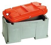 Heavy Duty Battery Box for 2 batteries upto 120 - 200 A  Large Red BATB200RD2