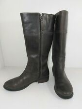 Authentic Fossil brown leather rustic casual boots women's size 6.5