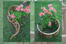 6-tlg Gartenzaun NATUR Pflanzenbegrenzung Beetzaun Beeteinfassung HOLZ Zaun