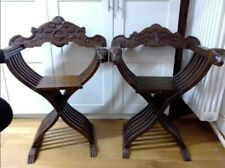2 Vintage Italian Folding Wood Chair Savonarola