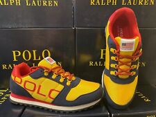 Polo Ralph Lauren Oryion-II Sneakers Navy/Yellow/Red Big Kids GS ALL SIZES NEW