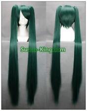 Hatsune miku femme longue robe fantaisie cosplay wigs full wigs avec 2 queues de cheval #1