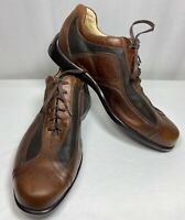 Neil M. 2 Tone Brown Leather Casual Lace Up Driving Shoe Men 11.5 EEE Extra Wide