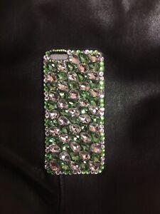 Iphone 6 Tear Drop Rhinestone Case Size 4.7 Light Green & Crystal