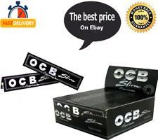 OCB Premium Slim King Size Large Rolling Papers Black Smoking Cigarette Papers