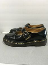 Dr Martens Womens Mary Janes Glossy Black Made In England Sz 7