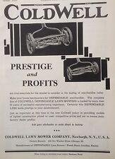 VINTAGE 1930 AD(F18)~COLDWELL LAWN MOWER CO. NEWBURGH, NY.