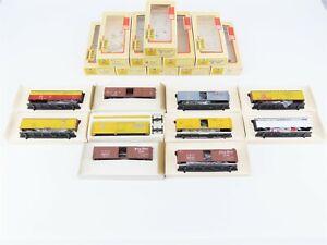 Lot Of 10 HO Scale Train-Miniature Kits NKP WP BAR UP MKT Marhoefer Freight Cars