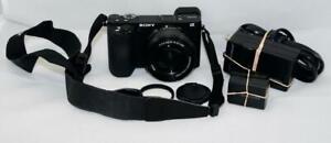 Sony Alpha A6500 Black Digital Camera Body with 16-50mm OSS Lens LOW SHUTTER