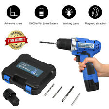 12V CORDLESS DRILL ELECTRIC SCREWDRIVER SET LED LIGHT 2x15600mWh LI-ION BATTERY