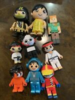 Lot of 9 Figures Mixed Lot With Ryan's World Figures(d)