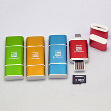 Micro 2 in 1 USB 2.0 OTG Adapter SD HC Card Reader Fr Samsung Galaxy S3 S4 PAD