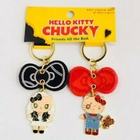 HELLO KITTY x CHUCKY x TIFFANY Keychains Set 2018 UNIVERSAL STUDIOS JAPAN