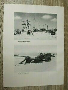 Blatt Bilder Dünkirchen Fliegerdenkmal Geschütz 1940 Hafen Gebäude 2. WK WWII