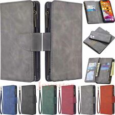 For iPhone 11 Pro Max XS 8 7 6S SE 2 Detachable Zipper Wallet Leather Case Cover