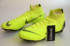 Nike Mercurial Superfly 6 Elite FG Volt Black Soccer Cleats AH7365-701 Mens 8.5