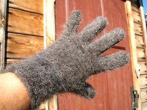 Men's GLOVES HOMEmade organic RUSSIAN GOAT DOWN yarn ANGORA Cashmere craft