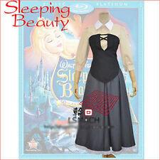 Sleeping Beauty Aurora Briar Rose Cosplay Costume Gray Housemaid Dress