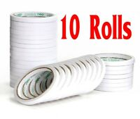 1/2/5/10x Rolls 6mm Double Sided Super Strong Adhesive Tape for DIY Craft Brand
