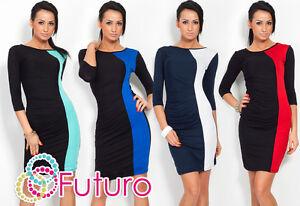 Trendy Two Colors Women's Dress Crew Neck Long Sleeve Jersey Size 8-12 8448