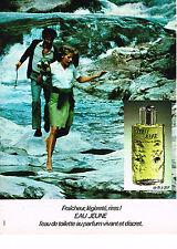 PUBLICITE  1971   EAU JEUNE    eau de toilette
