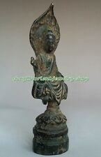 Collectables! Dynasty Old Chinese Bronze Buddha Statue 119mm