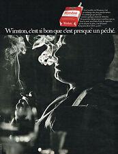 PUBLICITE ADVERTISING  1969    WINSTON   cigarettes