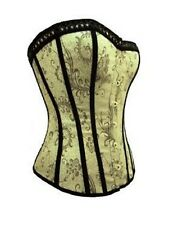 Valentines Gift Womens Lingerie Boned Corset Basque Clubwear fancy Dress Costume