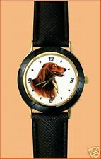 "Montre Chien ""TECKEL POIL LONG"" - Watch  DACHSHUND  DOG"