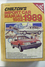 CHILTON'S 1982-1989 IMPORT CAR MANUAL MAINTENANCE SPECS DIESEL TURBO A/C CHASSIS